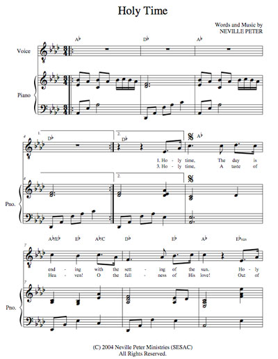 Holy Time Sheet Music