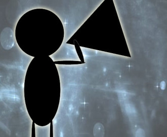 stick figure with a microphone